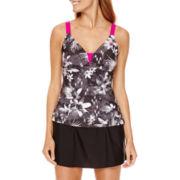 Zero Xposur® Lokoai Cage-Back Tankini Swim Top or Knit Action Skirtini Bottom