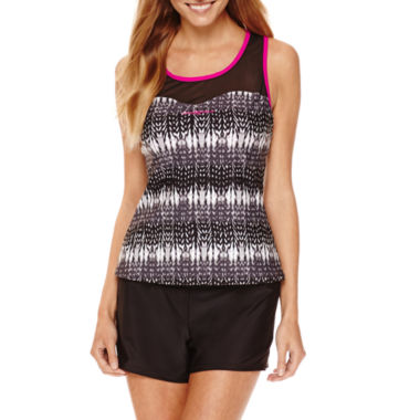 jcpenney.com | ZeroXxposur® Knit Mesh Sweetheart Tankini Swim Top or Knit Action Shorts