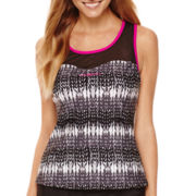ZeroXposur® Knit Mesh Sweetheart Tankini Swim Top
