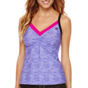 ZeroXposur® Spaced Mesh-Back Tankini Swim Top