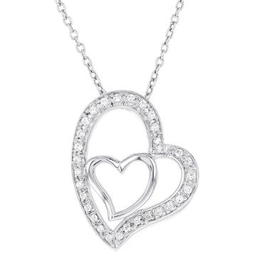 jcpenney.com | Womens 1/6 CT. T.W. White Diamond Pendant Necklace