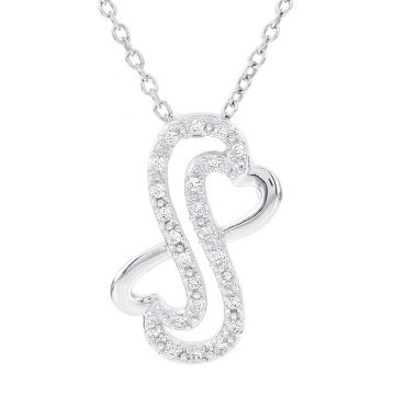 jcpenney.com | Womens 1/8 CT. T.W. White Diamond Sterling Silver Pendant Necklace