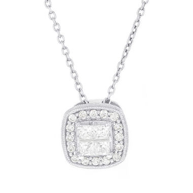 jcpenney.com | Womens 1/2 CT. T.W. White Diamond Sterling Silver Pendant Necklace