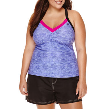 jcpenney.com | ZeroXposur® Spaced Mesh-Back Tankini or Woven Board Shorts - Plus