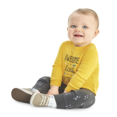 jcpenney.com | Carter's® 2-pc. Yellow Bodysuit and Pants Set - Baby Boys newborn-24m