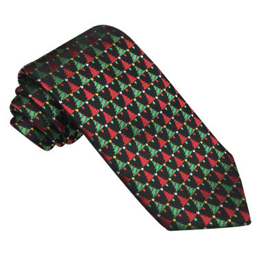 jcpenney.com | Hallmark® Woven Small Christmas Tree Tie - Extra Long