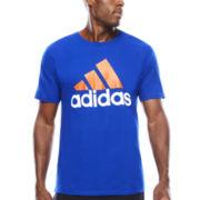 adidas® Short-Sleeve Logo Cotton Tee