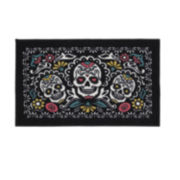 JCPenney Home™ Sugar Trio Skulll Washable Rectangular Rug