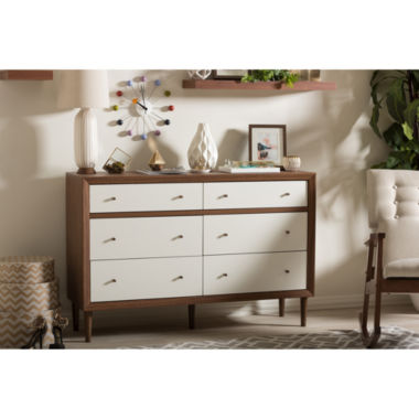 jcpenney.com | Baxton Studio Harlow Walnut Wood 6-Drawer Dresser