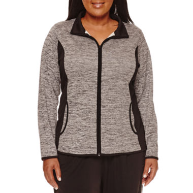 jcpenney.com | Made for Life™ Long-Sleeve Mesh Jacket - Plus