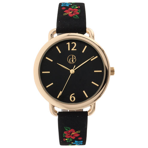 Decree Womens Black Strap Watch-Dcr281bg