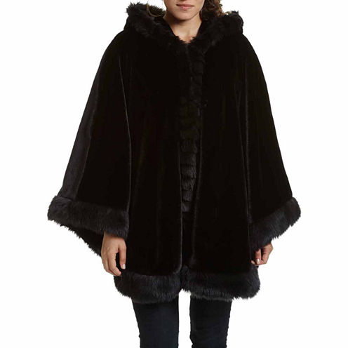 Excelled Leather Hooded Swing Coat