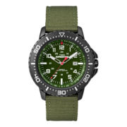 Timex® Expedition Mens Green Nylon Strap Watch