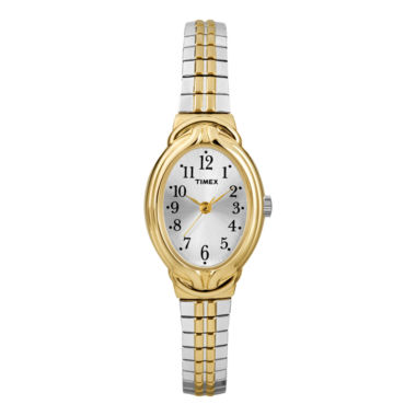 jcpenney.com | Timex® Womens Two-Tone Oval Expansion Watch T2N980