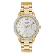 Citizen® Womens Gold-Tone Crystal-Accent Boyfriend Watch  ED8122-59A