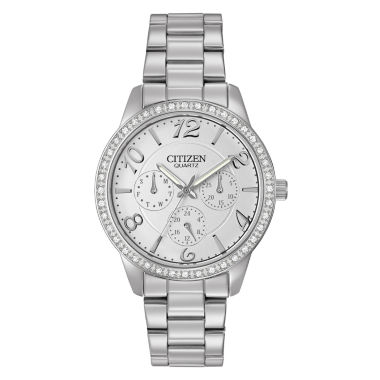 jcpenney.com | Citizen® Womens Silver-Tone Crystal-Accent Chronograph Watch ED8120-54A