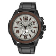 Drive from Citizen® Eco-Drive® WDR Mens Black & Brown Chronograph Watch AT2278-58H