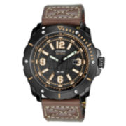 Drive from Citizen® Eco-Drive™ HTM Mens Brown Nylon Strap Watch BM7279-03E
