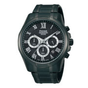 Pulsar® Mens Black 10ATM Chronograph Watch