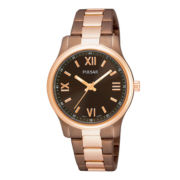 Pulsar® Womens Two-Tone Brown Dial Bracelet Watch PH8066
