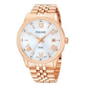 Pulsar® Womens Rose-Tone Boyfriend Watch