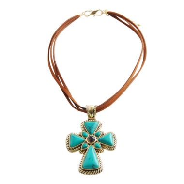 jcpenney.com | Art Smith by BARSE Mixed Gemstone Cross Pendant Necklace