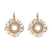 telio! by Doris Panos Gold-Tone Medusa Crystal Drop Earrings