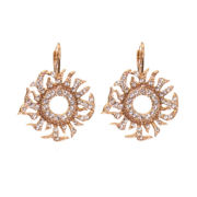 telio! by Doris Panos Rose-Tone Medusa Crystal Drop Earrings
