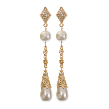 jcpenney.com | telio! by Doris Panos Gold-Tone Fantasy Simulated Pearl Earrings