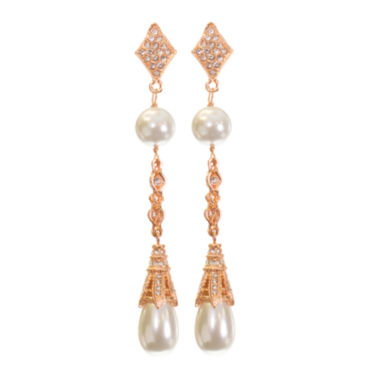 jcpenney.com | telio! by Doris Panos Rose-Tone Fantasy Simulated Pearl Earrings
