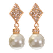 telio! by Doris Panos Rose-Tone Alysee Pearl Drop Earrings