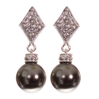 jcpenney.com | telio! by Doris Panos Silver-Tone Alysee Pearl Drop Earrings