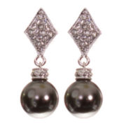 telio! by Doris Panos Silver-Tone Alysee Pearl Drop Earrings
