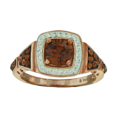 jcpenney.com | 14K Rose Gold Over Sterling Silver Crystal Ring