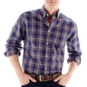 jcp™ Yarn-Dyed Poplin Shirt