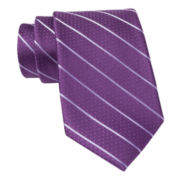 Claiborne® Pin Dot Stripe Silk Tie