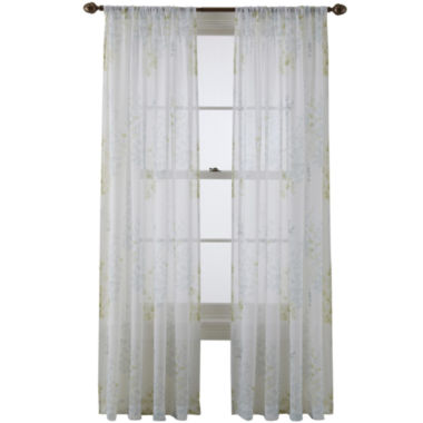 jcpenney.com | MarthaWindow™ Morning Mist Rod-Pocket Sheer Panel