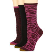 Gold Toe® 3-pk. Animal Print Dress Socks