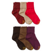 Gold Toe® 6-pk.Turn-Cuff Crew Socks