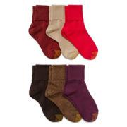 Gold Toe® 6-pk.Turn-Cuff Crew Socks