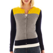 jcp™ Long-Sleeve Crewneck Cardigan Sweater - Tall