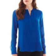 nicole by Nicole Miller® Long-Sleeve Tunic Blouse