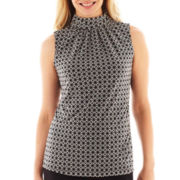 Worthington® Sleeveless Ruched-Neck Top