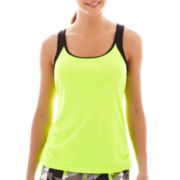 Xersion™ Shirred-Side Interlock Tank Top