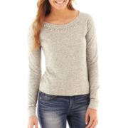 Decree® Long-Sleeve Embellished Sweatshirt