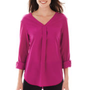 Worthington® 3/4-Sleeve Roll-Tab Blouse - Tall