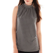 Worthington® Sleeveless Ruched-Neck Top - Tall