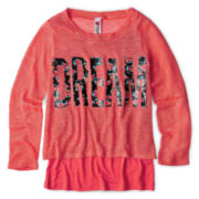 Knit Works Sweater and Tank Top Set - Girls 6-16
