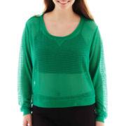 City Streets® Mesh Sweatshirt - Plus