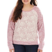 Arizona Lace-Front Sweatshirt - Plus